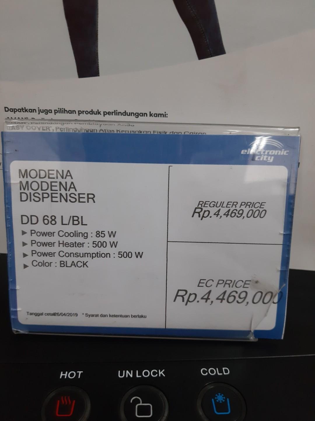 Modena Dispenser Cicilan Bunga 0% Tanpa Kartu kredit