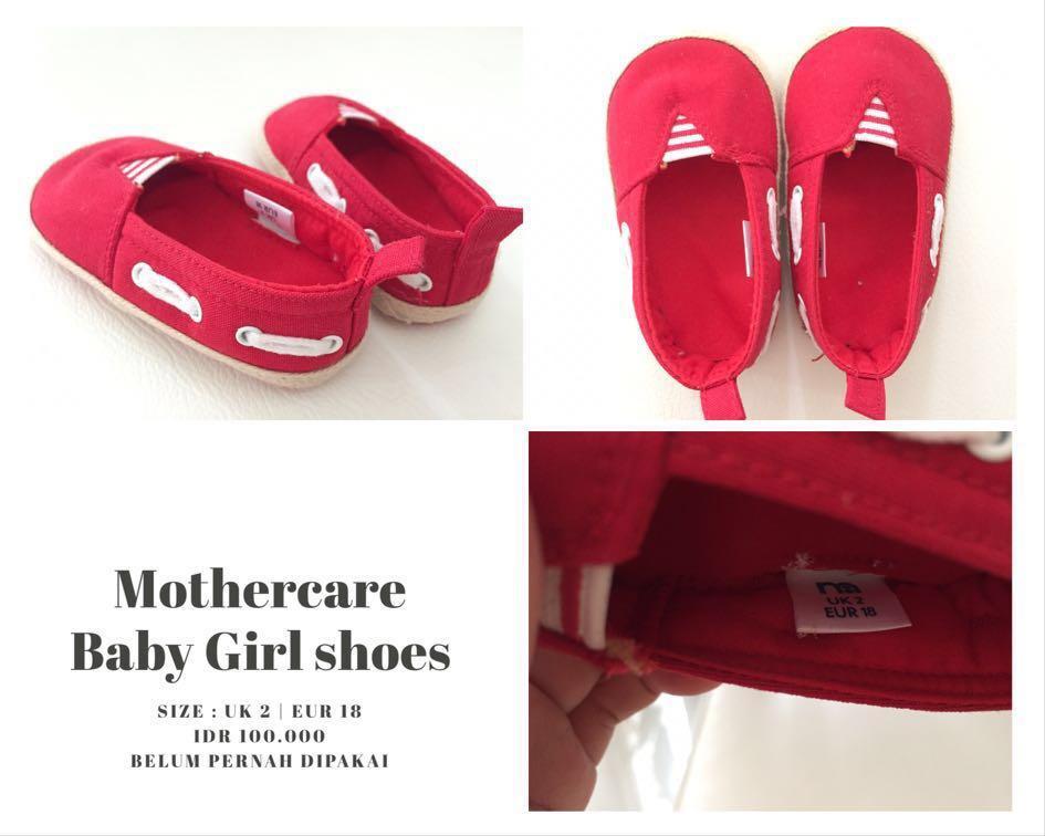 Mothercare Red Shoes (Belum Pernah Dipakai, Tanpa Gantungan Sepatu)