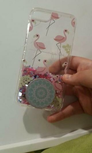 Phone case with pop socket