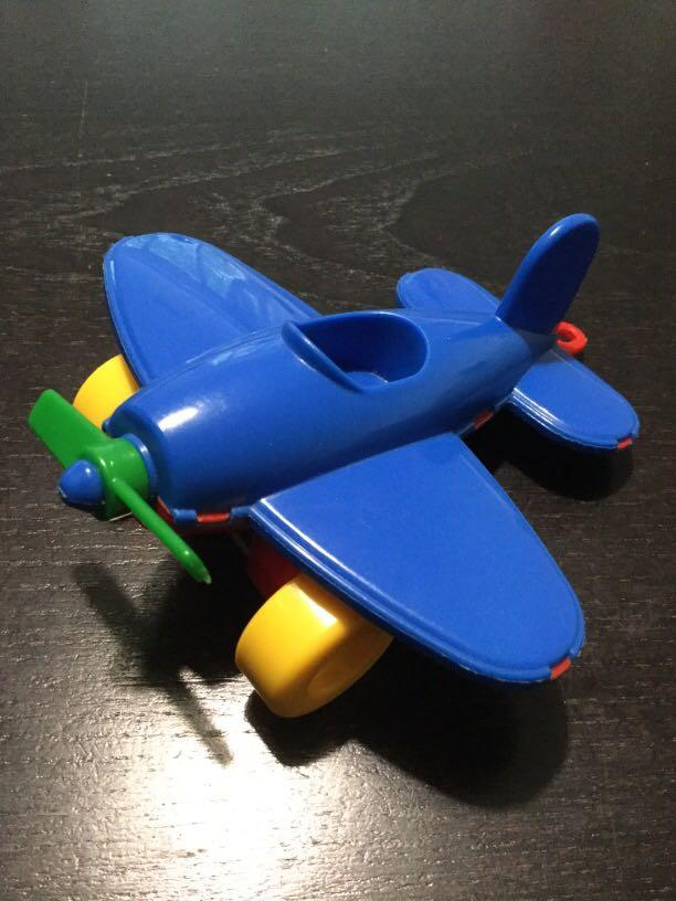 Plastic toy plane for toddlers