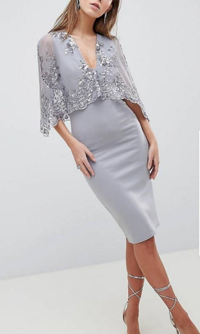 Sequin Cape Overlay Mini Dress #EndgameYourExcess