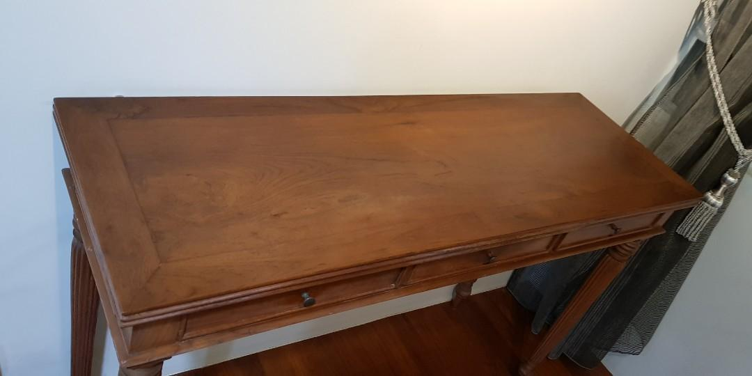 Solid Teak Console Table