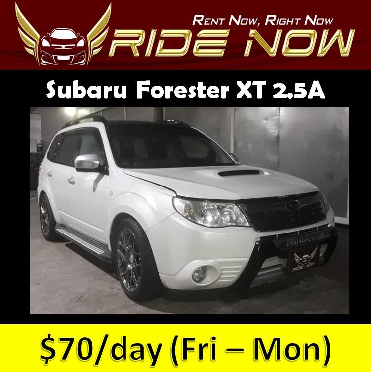 Subaru Forester XT 2.5A - SUV Cheap and Affordable P Plate Friendly Car Rental