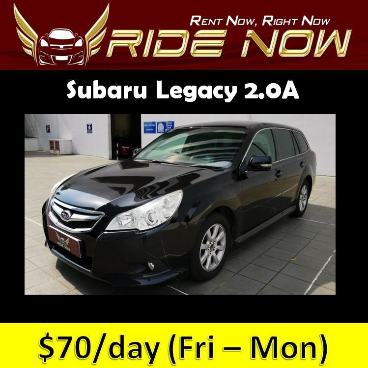 Subaru Legacy 2.0A Cheap and Affordable P Plate Friendly Car Rental