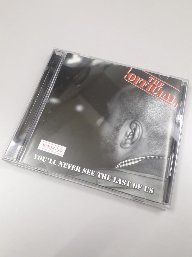 THE OFFICIAL YOU'LL NEVER SEE THE LAST OF US cd