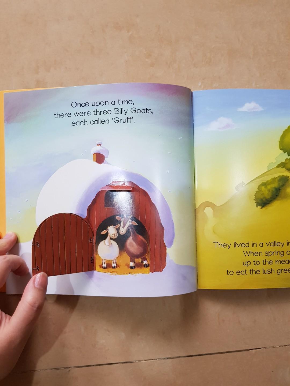 Three Billy Goats. Buku Cerita Anak Bahasa Inggris Flip Up