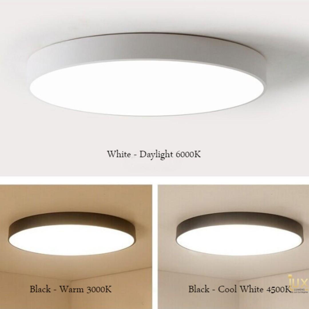 Ultra-Slim Monochromatic LED Ceiling Light