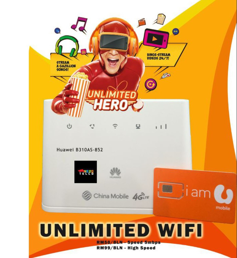 Unifi mobile unlimited sms,call,data