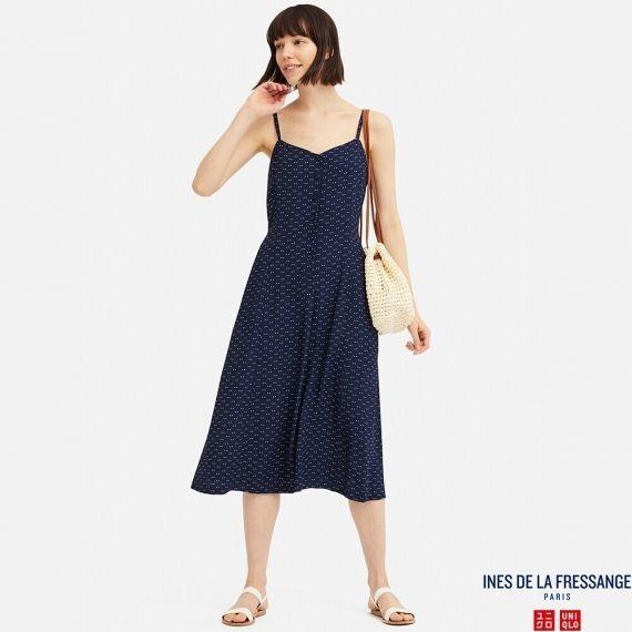 b036800ae0549 Uniqlo IDLF Rayon Button Slip Summer Dress #Ramadan75, Fesyen Wanita,  Pakaian, Dresses di Carousell