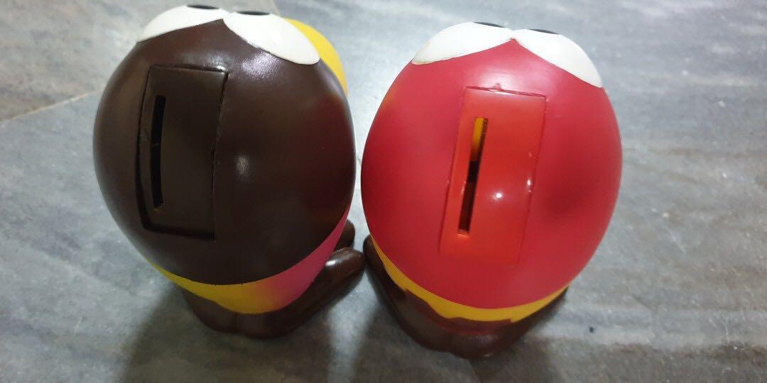 Vintage Japan Candy Chocolate Chocoball Advertising Mascot Kyoro Chan Coin Bank