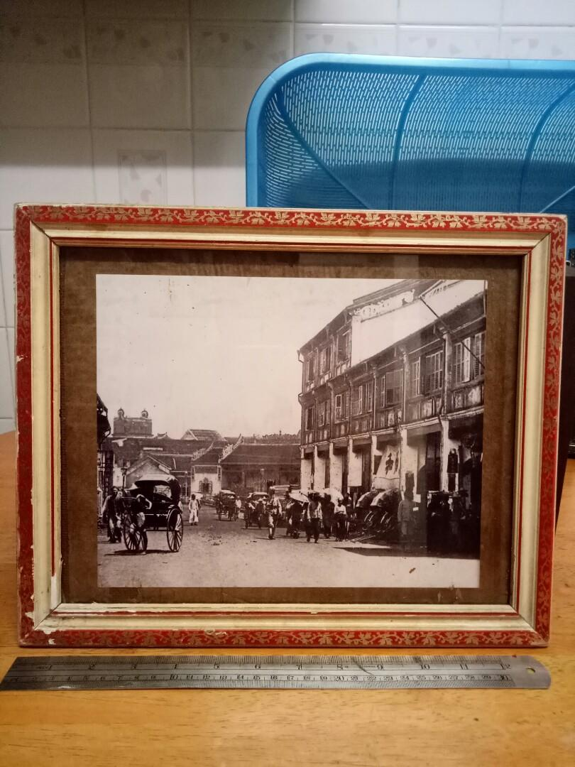 Vintage photo with frame 1940s