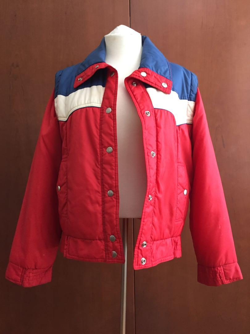 Vintage Puffer Jacket with Removable Sleeves in Small