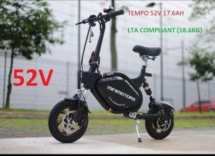 🔥🔥🔥Minimotors TEMPO S2 Seated Electric Scooter 52v 17AH