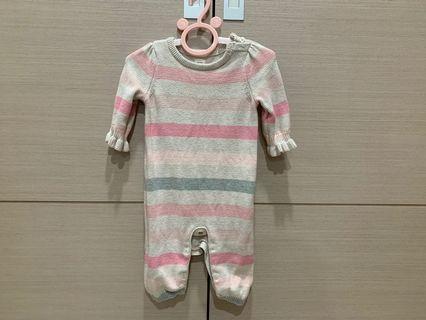 baby gap 可愛條紋一件式包屁衣