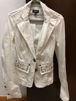 White Jeans beads jacket
