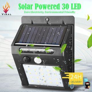🚚 Solar Powered Energy Saving LED Lamp #30 LED #Energy Efficiency #Automatic #Wall Light #Street Light #Bright #3 intelligent mode #Energy Saving #Zero Electric Bill