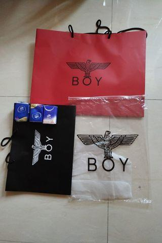 BOY LONDON紙袋、膠zip袋(個個不同價,可3個—套買)