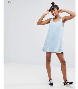 Monki denim mermaid dress