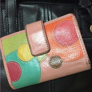 Pink Fossil Leather Wallet #OYOHOTEL