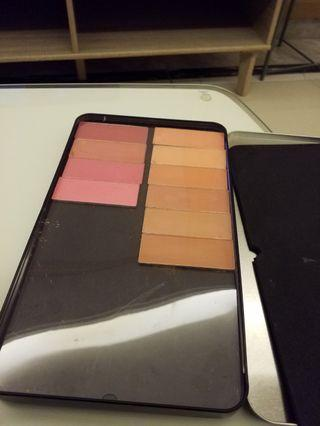 Make up for ever large metal palette with random blushers and bronzers