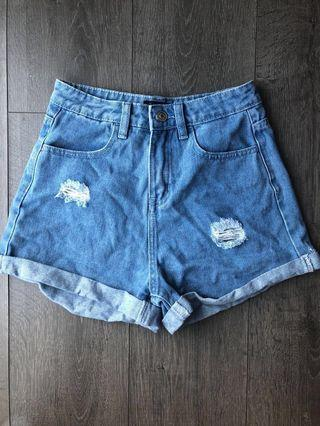 zalora mom shorts