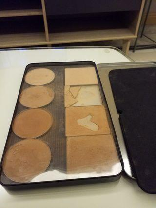 Make up for ever large metal palette with random bronzer, contour and highlighter