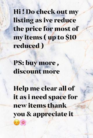PRICE REDUCED UP TO $10 !!!!!