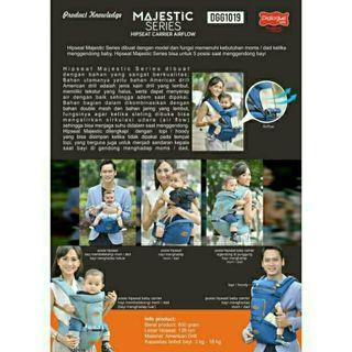 Gendongan Hipseat Dialogue Baby Majestic Series
