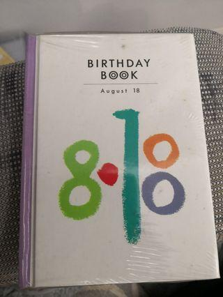Birthday Book (August 18)