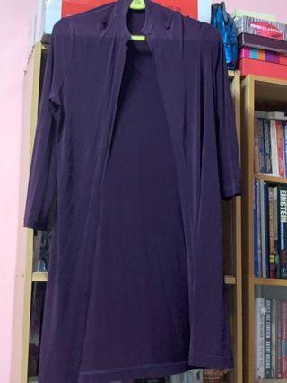 Long purple cardigan by Jane Davenport (Australia)