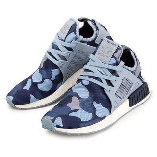 Adidas Nmd XR1 Camo Blue Women Size US 5, UK 3.5