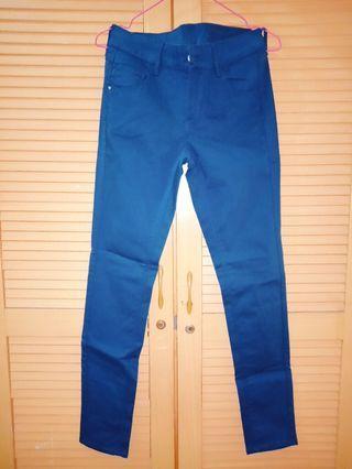 Blue Pants Semi Jeans