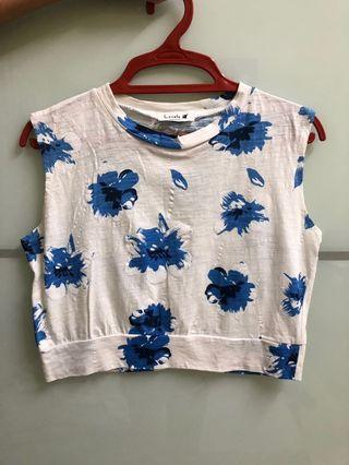 Women floral crop top Free size