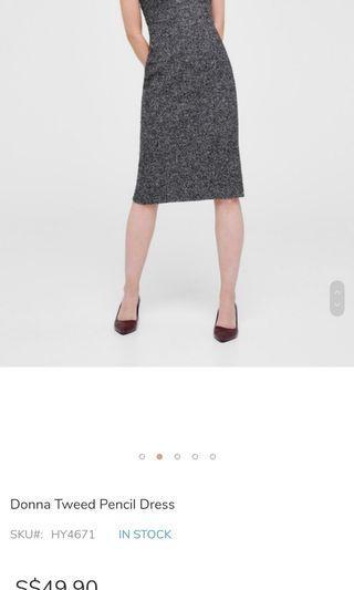 Love and bonito Donna Tweed Pencil Dress