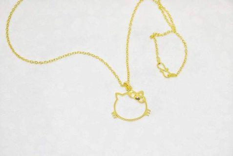 🚚 18k Gold Necklace-Hello Kitty