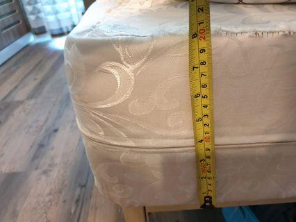 RESERVED 2nd Hand Uratex Mattress with Bed Frame 54 x 75 x 8