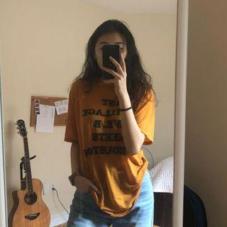 Ripped New York Orange Forever 21 Graphic T-Shirt