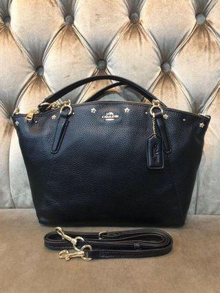 COACH F37773 KELSEY CHAIN SATCHEL WITH FLORAL RIVETS