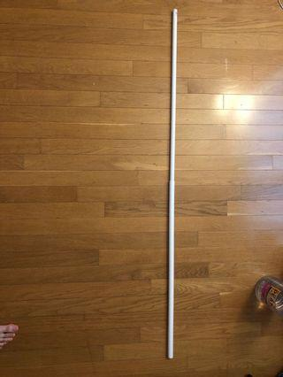 Ikea white curtain rod up to 1.24m