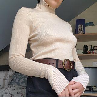 Almond turtleneck