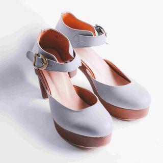 Adya Genuine Leather (High Heels Abu-abu)