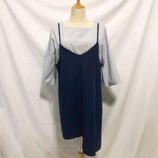 不規則兩件式套裝裙