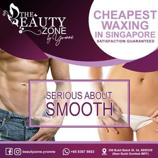 Cheapest Waxing (Brazilian & Boyzilian) In SG, For Both Men & Women