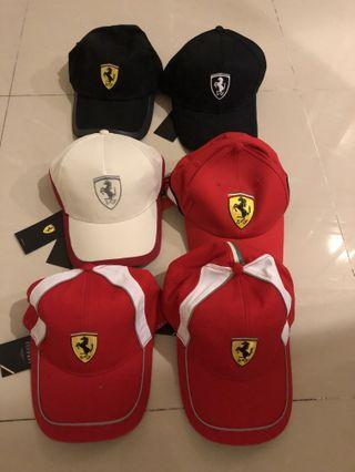 🚚 Ferrari official license caps bundle of 6
