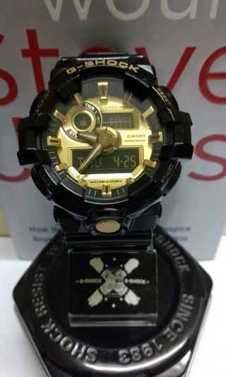 G-Shock GA-710GB Gold Black