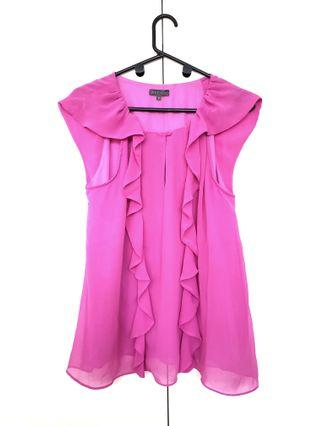 Sheike pink shirt with frills