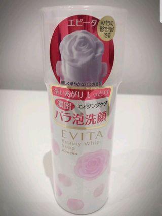 KANEBO EVITA BEAUTY WHIP SOAP 150g ROSE FOAM Japan Cosmetics Cleanser Foam