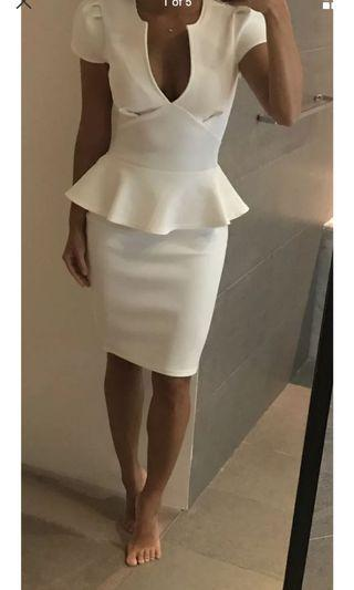 New with tags boohoo white corporate dress xs or 6