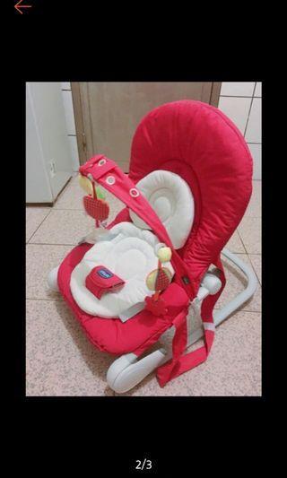 (二手近新)Chicco  Hoopla 紅色坐椅(安撫椅)