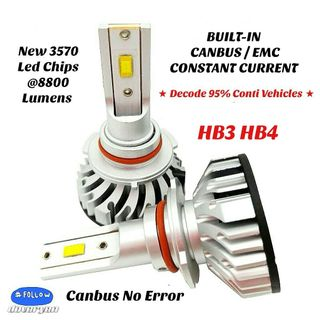H7 Px26d Canbus Pure White Led Headlight-Decode 95% Conti